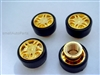 Yellow Gold Wheel Tire Valve Stem Caps