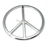 3D Groovy Peace Sign Chrome Emblem-Decal Sticker for Auto-Car-Truck-Bike
