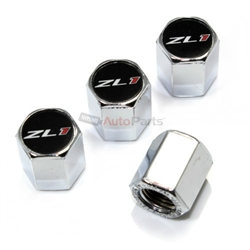 (4) Chevy Camaro ZL1 Logo Chrome ABS Tire/Wheel Stem Air Valve Car Caps Covers