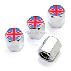 4-British-Flag-Logo-Chrome-ABS-Tire-Wheel-Stem-Air-Valve-Car-Truck-Caps-Covers