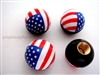 American Flag Ball Tire Valve Stem Caps