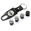 Chevy Corvette C4 Black Tire Valve Caps & Key Chain Gift Set