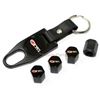 Chevy Corvette Z06 505hp Black Tire Valve Caps 7 Key Chain Gift Set