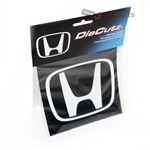 Honda H Logo Clear Vinyl Window/Glass Decal Die Cutz Sticker for Car-Truck-SUV