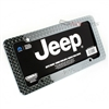 Jeep Logo Chrome Treadplate Metal License Plate Tag Frame for Auto-Car-Truck