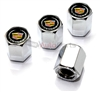 Cadillac Silver Logo Chrome ABS Tire Valve Stem Caps