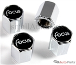 Ford Focus Logo Chrome ABS Tire Valve Stem Caps