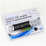 Clock/Ice Alert/Thermometer for Car-Truck-Bike-Scooter Interior Dash mount