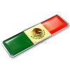 Premium 3D Mexico Flag Chrome Emblem for Car-Truck-Bike rear trunk side fender