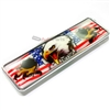 American Freedom USA Eagle Flag Chrome Domed Emblem Badge for Car-Truck-Bike