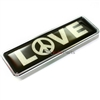 Premium Love Peace Sign Chrome Emblem for Car-Truck-Bike rear trunk side fender