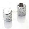 Silver Aluminum Chrome Stripes Tire Valve Stem Caps