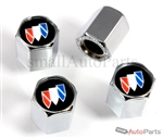 Buick Black Logo Chrome ABS Tire Valve Stem Caps