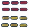Premium Adhesive Stick-On Red/Yellow Reflectors for Auto-Car-Truck-Bike Exterior