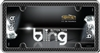 Luxury Button Tuck Bling Chrome/Black License Plate Frame for USA Car-Truck-SUV