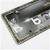 Luxury Leopard Gold/Chrome/Black License Plate Tag Frame for Car-Truck-SUV