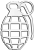 3D Grenade Chrome Emblem-Decal Sticker for Auto-Car-Truck-Bike-Hood-Trunk-Dash