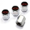 Chevrolet Red Logo Chrome ABS Tire Valve Stem Caps