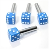 4 Custom Blue Dice Interior Door Lock Knobs Pins for Car-Truck-HotRod-Classic