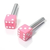2 Custom Pink Dice Interior Door Lock Knobs Pins for Car-Truck-HotRod-Classic