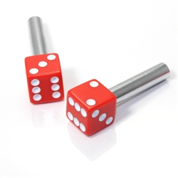 2 Custom Red Dice Interior Door Lock Knobs Pins for Car-Truck-HotRod-Classic