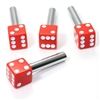 4 Custom Red Dice Interior Door Lock Knobs Pins for Car-Truck-HotRod-Classic