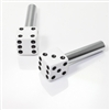 2 Custom White Dice Interior Door Lock Knobs Pins for Car-Truck-HotRod-Classic