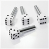 4 Custom White Dice Interior Door Lock Knobs Pins for Car-Truck-HotRod-Classic
