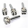 4 Custom Clear Dice Interior Door Lock Knobs Pins for Car-Truck-HotRod-Classic