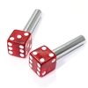 2 Clear Red Dice Interior Door Lock Knobs Pins for Car-Truck-HotRod-Classic