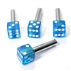 4 Clear Blue Dice Interior Door Lock Knobs Pins for Car-Truck-HotRod-Classic