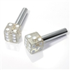 2 Clear Glitter Dice Interior Door Lock Knobs Pins for Car-Truck-HotRod-Classic