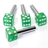 4 Green Glitter Dice Interior Door Lock Knobs Pins for Car-Truck-HotRod-Classic