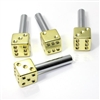 4 Yellow Gold Dice Interior Door Lock Knobs Pins for Car-Truck-HotRod-Classic