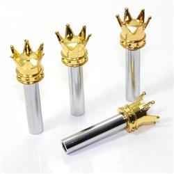 4 Custom Gold Crown Interior Door Lock Knobs Pins for Car-Truck-HotRod-Classic