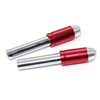 2 Chrome Red Bullet Interior Door Lock Knobs Pins for Car-Truck-HotRod-Classic