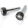 2 Universal Chrome Wheel Rim Interior Door Lock Knobs Pins for Car-Truck-HotRod