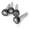 4 Universal Chrome Wheel Rim Interior Door Lock Knobs Pins for Car-Truck-HotRod