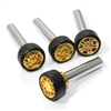 4 Universal Gold Wheel Rim Interior Door Lock Knobs Pins for Car-Truck-HotRod