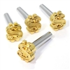 4 Gold Dollar Sign Interior Door Lock Knobs Pins for Car-Truck-HotRod-Classic