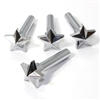 4 Universal Chrome Star Interior Door Lock Knobs Pins for Car-Truck-HotRod