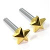 2 Universal Gold Star Interior Door Lock Knobs Pins for Car-Truck-HotRod