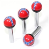 4 Universal Rebel Flag Ball Interior Door Lock Knobs Pins for Car-Truck-HotRod
