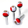 4 Universal Mexico Flag Ball Interior Door Lock Knobs Pins for Car-Truck-HotRod
