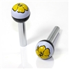 2 Yellow Flower Ball Interior Door Lock Knobs Pins for Car-Truck-HotRod-Clasic