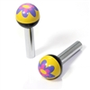 2 Purple Flower Ball Interior Door Lock Knobs Pins for Car-Truck-HotRod-Clasic