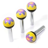 4 Purple Flower Ball Interior Door Lock Knobs Pins for Car-Truck-HotRod-Clasic