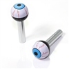 2 Universal Blue EyeBall Interior Door Lock Knobs Pins for Car-Truck-HotRod