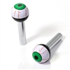 2 Universal Green EyeBall Interior Door Lock Knobs Pins for Car-Truck-HotRod