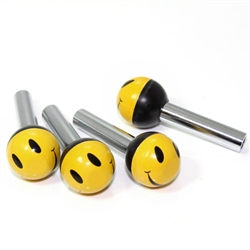 4 Universal Smile Face Ball Interior Door Lock Knobs Pins for Car-Truck-HotRod
